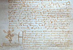 Charte médiévale concernant Mazan (Vaucluse)..