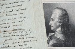 Brouillon d'une pièce en vers de Claude-Joseph Dorat.. Claude Joseph Dorat (1734-1780) Poète et dramaturge, adversaire des Philosophes, il se ruina ...