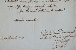 Le général Rivaud de La Raffinière à Verdun.. Olivier Macoux Rivaud de La Raffinière (1766-1839) Général d'Empire.