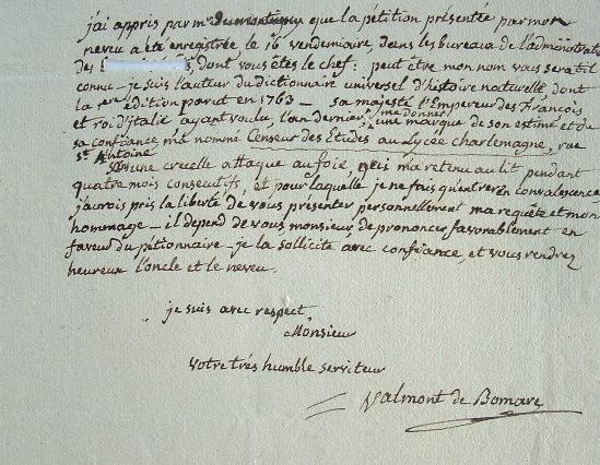 Valmont de Bomare, nouveau Censeur des Etudes.. Jacques Christophe Valmont de Bomare (1731-1807) Naturaliste, minéralogiste et voyageur, auteur du ...