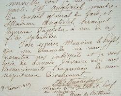 Quatrafages de Bréau s'adresse au baron Haussmann.. Armand Quatrefages de Bréau (de) (1810-1892) Zoologiste, biologiste et anthropologue, professeur ...