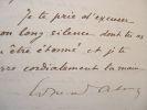 Edmond About et le protectorat français en Tunisie.. Edmond About (1828-1885) Écrivain. Membre de l'Académie française (1884).