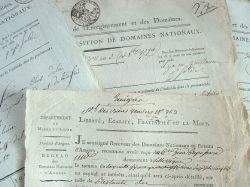 Vente de domaines nationaux à Villevêque..