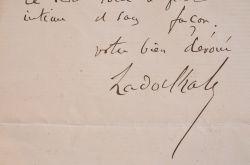 Le grand rabbin Zadoc Kahn veut discuter des affaires d'Algérie.. Zadoc Kahn (1839-1905) Grand rabbin de France (1889-1905), fondateur de la Société ...