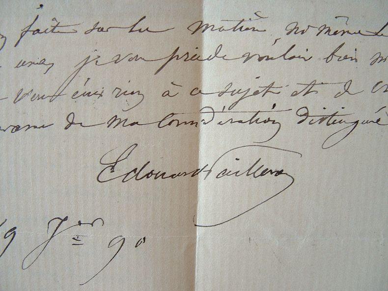 Edouard Pailleron absorbé par son travail. 1890.. Edouard Pailleron (1834-1899) Dramaturge. Membre de l'Académie française (1882).