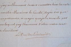 Le duc de Nivernais attend un tableau du comte d'Angiviller.. Louis Jules Mancini Mazarini, duc de Nivernais (1716-1798) Homme de lettres et ...