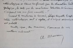 Charles Maurain se renseigne sur la science seismologique.. Charles Maurain (1841-1967) Géophysicien, fondateur et premier directeur de l'Institut de ...