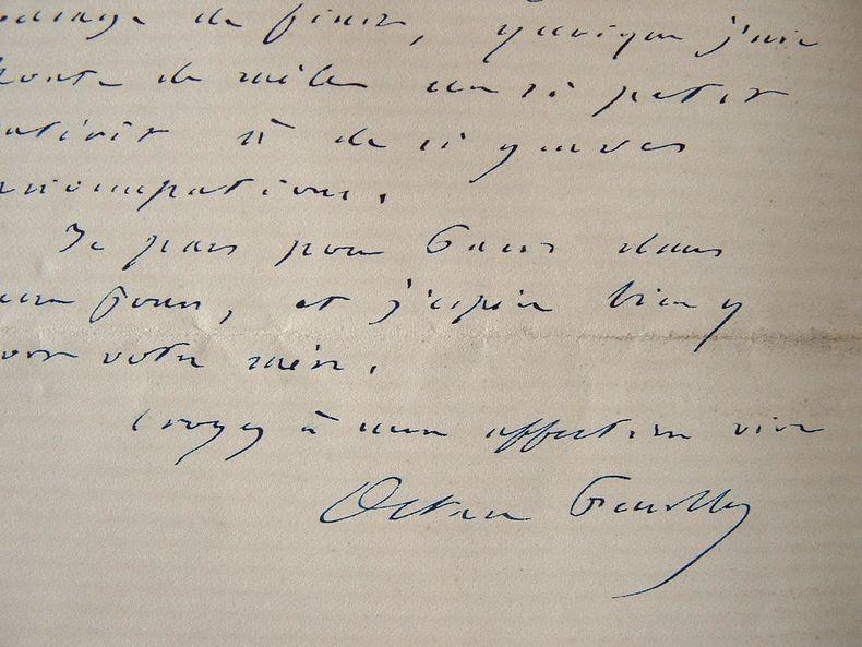 Octave Feuillet face à l'imminence de la guerre.. Octave Feuillet (1821-1890) Romancier et dramaturge, il connut un grand succès sous le Second ...