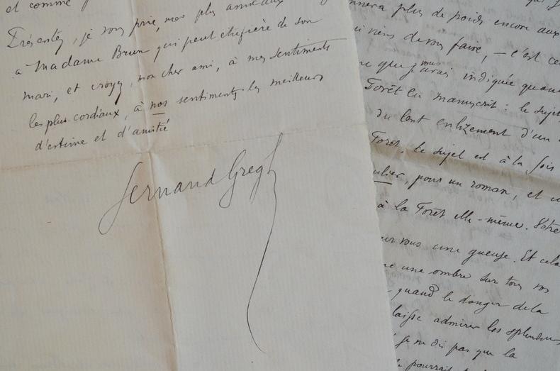 Belle critique littéraire de Fernand Gregh.. Fernand Gregh (1873-1960) Poète et critique littéraire. Membre de l'Académie française (1953).