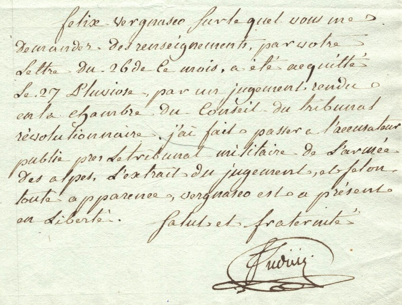 Clémence de l'accusateur public de Paris, Antoine Judicis..