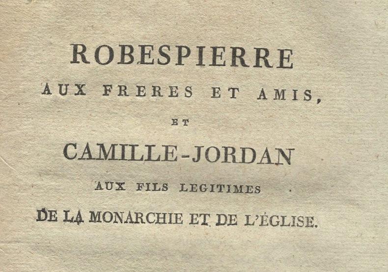Pérac fait parler Robespierre..