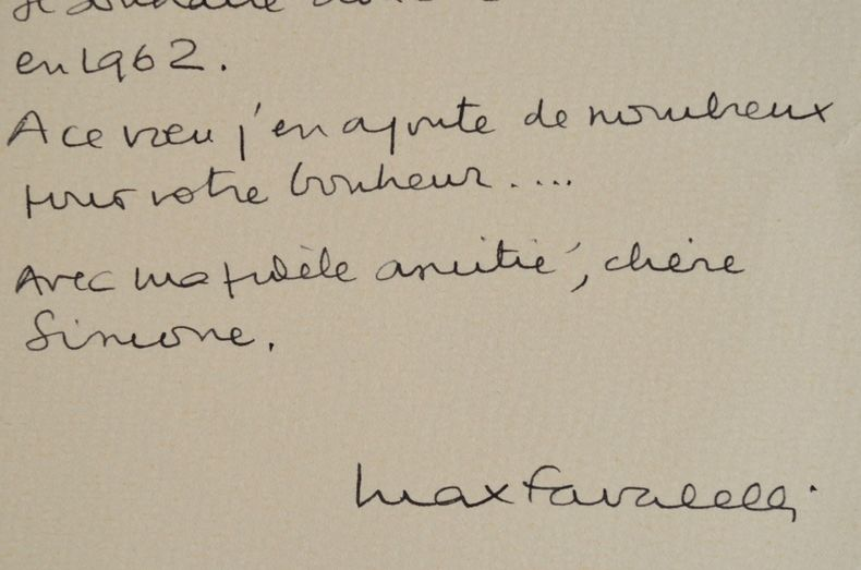 Les souhaits et les voeux de Max Favalelli.. Max Favalelli (1905-1989) Journaliste, cruciverbiste.