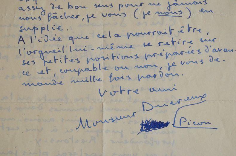 Louis Ducreux demande pardon.. Louis Ducreux (Ducreux-Picon dit) (1911-1992) Acteur, metteur en scène et directeur de théâtre.