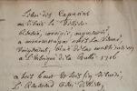 Manuscrit d'un pamphlet contre le confesseur de Louis XIV, le père Le Tellier..