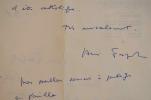 Après l'encyclique Humanae Vitae, André Frossart a honte d'être catholique.. André Frossard (1915-1995) Journaliste et essayiste, membre de l'Académie ...