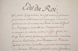 Des mesures sur les monnaies et les faussaires prises par Louis XIV..
