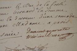 Facture de dorure d'une commode au début du XVIIIe..