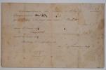Reconnaissance de dettes de Lamartine.. Alphonse Lamartine (de) (1790-1869) Poète et homme politique.