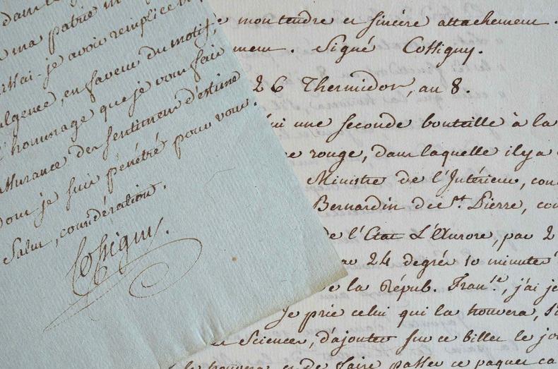 Les bouteilles à la mer du voyageur Cossigny.. Joseph François Cossigny (1730-1809) Ingénieur royal. Grand voyageur. Il écrit Voyage au Bengale et ...