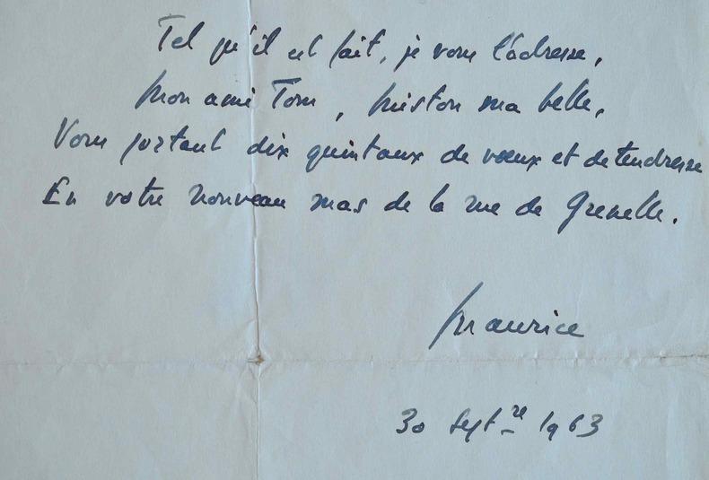 Maurice Druon présente ses voeux.. Maurice Druon (1918-2009) Ecrivain. Il reçoit le Prix Goncourt en 1948 et entre à l'Académie française en 1966. ...