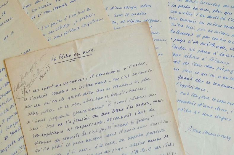 Manuscrit du reporter et marin Pierre Humbourg, La Pêche en Mer.. Pierre Humbourg (1901-1969) Reporter et marin au long court, romancier et ...