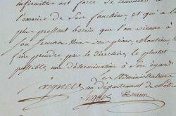 Lettre signée les administrateurs de la police, Sergent-Marceau, Perron et Vigner.. Cyr-Jacques Vigner (1742-1824) Magistrat et administrateur de ...