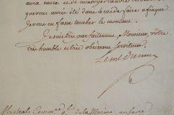 Le maréchal Du Muy se fait livrer du vin de Malaga.. Louis Nicolas Victor Muy (de Félix d'Ollières, comte du) (1711-1775) Maréchal de France, ministre ...