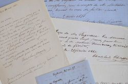 Correspondance de l'historien Charles-Louis Chassin à l'éditeur Pagnerre.. Charles Louis Chassin (1831-1901) Historien libre-penseur et anticlérical, ...