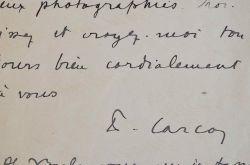 Francis Carco ravi d'un article.. Francis Carco (1886-1958) Ecrivain et poète. L'Homme Traqué reçoit le grand prix du roman de l'Académie Française ...