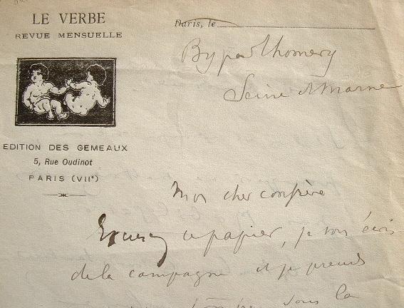 Fernand Gregh corrige La Couronne Douloureuse.. Fernand Gregh (1873-1960) Poète et critique littéraire. Membre de l'Académie française (1953).