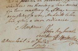 Jonas de Montmollin écrit à Théophile Perregaux.. Jonas Montmollin (de) (1676-1741) Homme politique suisse, il est membre du Conseil des Quarante de ...