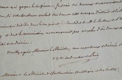 Le Cardinal Morlot, Archevêque de Paris, recommande un proche.. François Nicolas Madeleine Morlot (1795-1862) Cardinal, évêque d'Orléans (1839), ...