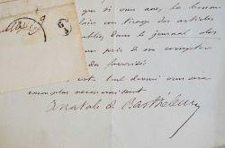 Lettre amicale de l'archéologue Anatole de Barthélémy au Comte Beneyton.. Anatole Barthélemy (de) (1821-1904) Archéologue, membre de la Société des ...