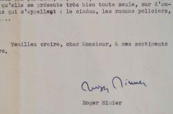 Roger Nimier salue l'oeuvre romanesque de Paul Guimard et Félicien Marceau.. Roger Nimier (1925-1962) Écrivain, chef de fil des Hussards, mort ...