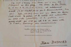 Jean Dutourd compare l'imagination de Stendhal, Dumas et Proust.. Jean Dutourd (1920-2011) Romancier et essayiste, académicien.