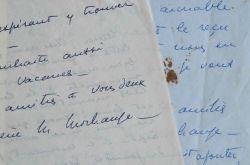 La violoniste Hélène Jourdan-Morhange corrige un livre de Segonzac.. Hélène Jourdan-Morhange (1888-1961) Violoniste, remarquée par Ravel en 1917, elle ...