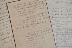 Correspondance de Louis Monmerqué à Jules Desnoyers avec 2 manuscrits.. Louis Monmerqu? (1780-1860) Magistrat, érudit, historien et collectionneur. Il ...