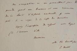 L'orientaliste Jules Mohl démissionne de la Société d'Histoire naturelle.. Jules Mohl (1800-1876) Orientaliste allemand naturalisé français, membre de ...
