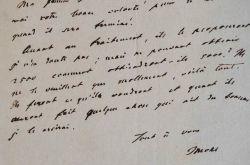 Lettre de l'orientaliste Jules Mohl.. Jules Mohl (1800-1876) Orientaliste allemand naturalisé français, membre de l'Académie des Inscriptions.