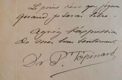Paul Topinard se consacre tout entier à la recherche.. Paul Topinard (1830-1911) Médecin et anthropologue, directeur adjoint de laboratoire ...