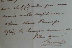 Lord Clarendon se réjouit pour la Princesse Katharina Pavlovna Shavronska.. George William Frederick Clarendon (comte de) Villiers (1800-1870) ...