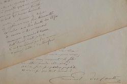 Manuscrit du poème Prophètes et Devins d'Emmanuel Des Essarts.. Emmanuel Des Essarts (1839-1909) Poète, ami de Mallarmé, à qui il fit connaître les ...