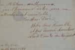 Le Comte de Nugent recommande un homme de mérite au Duc de Croy.. Robert Nugent (Comte de) Craygs (1702-1788) Homme politique irlandais, également ...