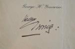 Signature autographe de Sir Henry Irving, tragédien victorien.. Henry Irving (1838-1905) Premier comédien britannique à obtenir un titre de Chevalier. ...