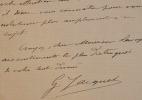 Le peintre Gustave Jacquet recommande la lecture d'une pièce.. Gustave Jacquet (1846-1909) Élève de William Bouguereau, il expose au Salon et se ...