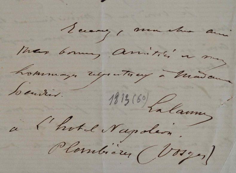 Le graveur Maxime Lalanne remercie M. Escudier de son soutien.. Maxime Lalanne (1827-1886) Dessinateur, il se spécialise dans la gravure et ...