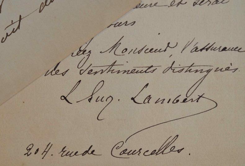 Le peintre Louis Eugène Lambert et l'épée du Cardinal de Richelieu.. Louis Eugène Lambert (1825-1900) Élève d'Eugène Delacroix et de Paul Delaroche, ...