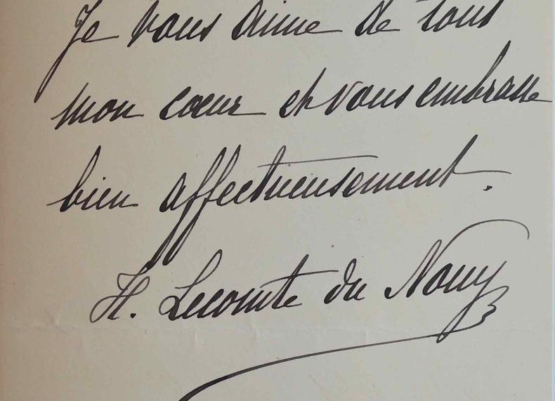 La romancière Hermine Lecomte de Nouy ne peut se rendre aux vendredis de Mme Jenny.. Hermine Lecomte de Nouy (1854-1915) Femme de lettres, romancière, ...