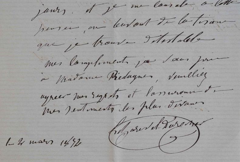 Le sculpteur Victor-Edmond Leharivel-Durocher s'excuse auprès d'Alexandre Piedagnel.. Victor Edmond Leharivel-Durocher (1816-1878) Sculpteur, il ...