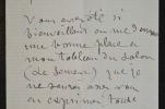 Le peintre Aimé Perret sollicite le soutien de Maxime Lalanne. Aimé Perret (1847-1927) Peintre. Elève, entre autres, de Puvis de Chavannes et ...